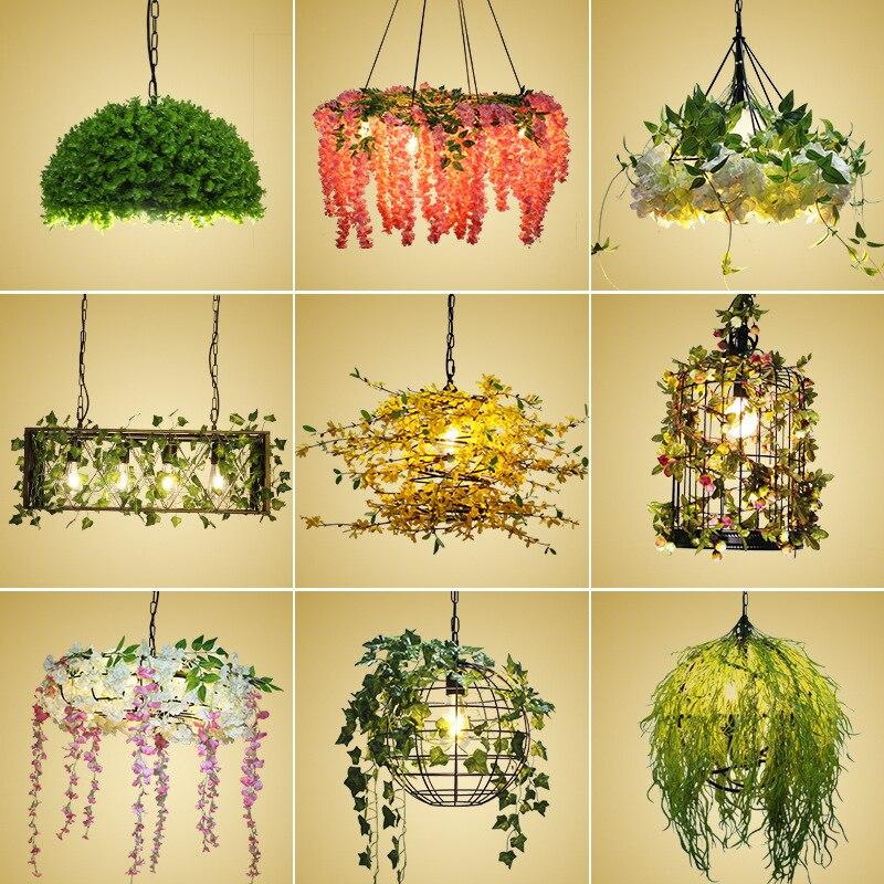 Green plant restaurant chandelier ...