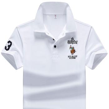 Koszulka Polo letnia marka odzież koszulka polo do golfa mężczyźni Business Casual męskie koszulki Polo z krótkim rękawem oddychająca miękka koszulka Polo tanie i dobre opinie Wolf inheritance Stałe Anty-pilling CN (pochodzenie) Szczupła Haft Poliester Na co dzień