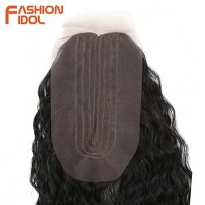 Image 5 - ファッションアイドルアフロ変態カーリーヘア黒人女性のためのソフトロング 30 インチオンブル黄金人工毛熱にくい