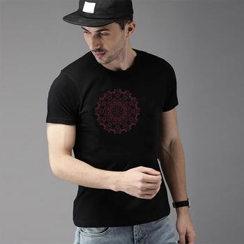 Print Hippie Boho Mandada tee shirt XXXL 4Xl 29XL Short-Sleeve tshirts Hipster gents tee t shirts