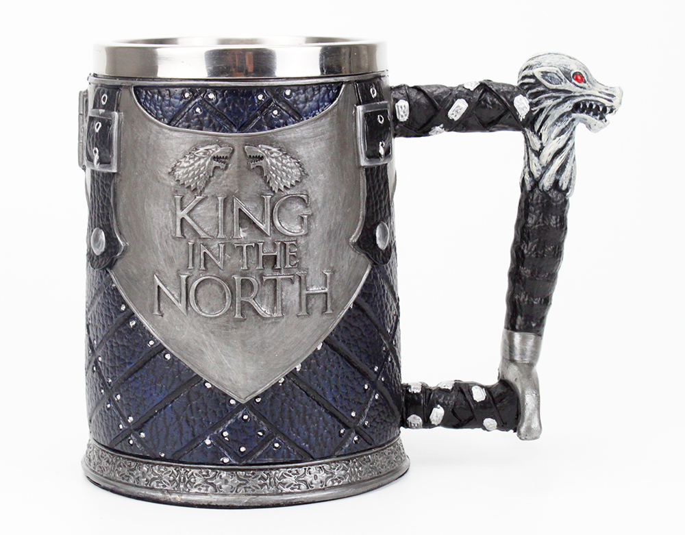 Game of Thrones Mug Tankard Nemesis Now Ltd King in the North Beer Coffee Drinkware Mugs 500-600ml BEST GOT Fan Gift
