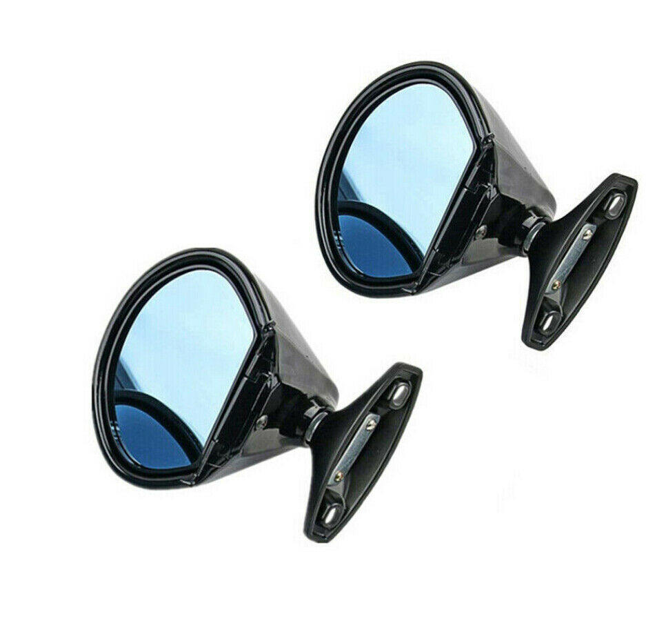 1 Pair California Classic Vintage Black Car Door Wing Side Mirror Hot Rod Muscle Anti Glare Blue Glass Mirror Covers Aliexpress