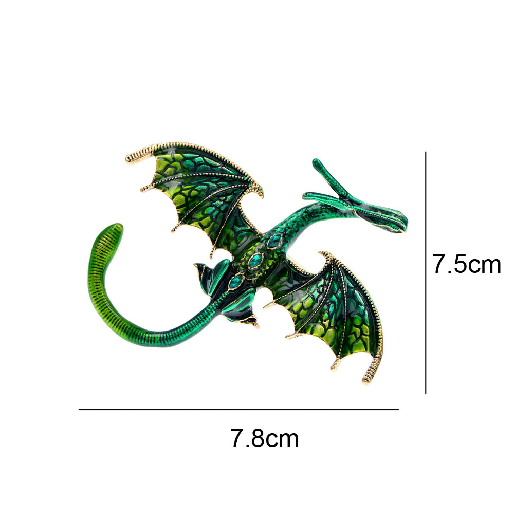 CINDY XIANG New Arrival Enamel Dragon Brooch Unisex Women And Men Pin Animal Large Brooches 5 Colors Available Gift 2