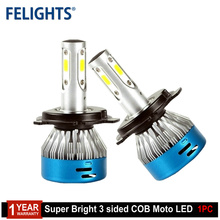 FELIGHTS led h4 MOTOLED 12V M3max 40w 4000LM Motorcycle headlights replacement for H4 LED bulbs