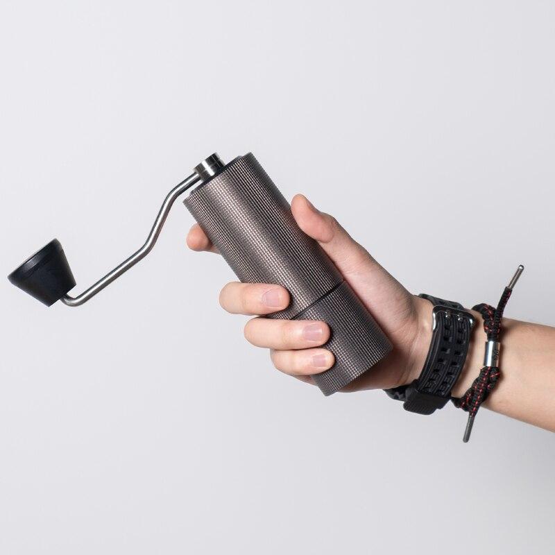Timemore yükseltme kestane C2 yüksek kaliteli alüminyum manuel kahve değirmeni paslanmaz çelik çapak değirmeni Mini kahve freze