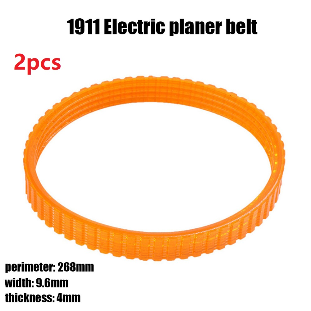 2pcs Woodworking Electric Planer Drive Driving Belt For 1911B Electric Planer Belt Orange Electric Planer Accessories