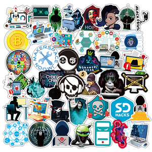 Hackers Graffiti Stickers Geek Java C++ Programming Stickers For Luggage Laptop Motorcycle Skateboard Bicycle Decal Toy 50PCS