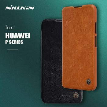 Nillkin for Huawei P40 Pro P30 Lite Case Qin Flip Leather Case Wallet Card Slot Protective Case for Huawei P40 Lite P30 Pro Case