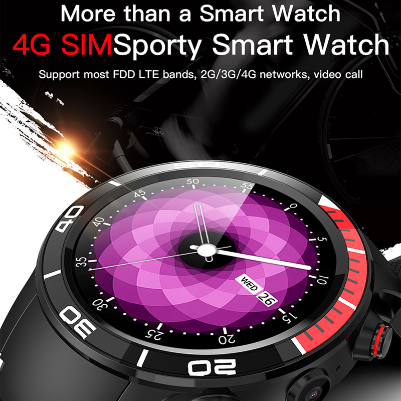 ESEED H8 4G GPS WIFI Smartwatch men IP68 waterproof 5MP Camera 16GB/ROM support Nano SIM Heart Rate Monitor for android ios - 2