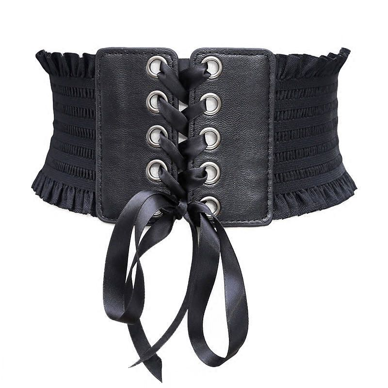 Fashion Corset Belt Tassel Butterfly Festival Wide Belt Belt Elastic Ladies Belt Female Clothing Belt Women 2019 White Belt