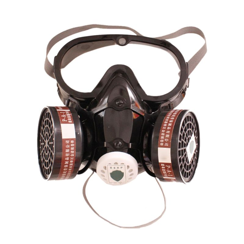 Full Face Respirator Self-Priming Filter Half Mask Prevent Harmful Gas Facepiece Security Prevention Anti-Dust With Goggles