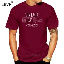 Vintage 1983 basit t-shirtShort kollu ShirtCasualSofthot satış T shirtsTops shirtShort kollu ShirtSlim