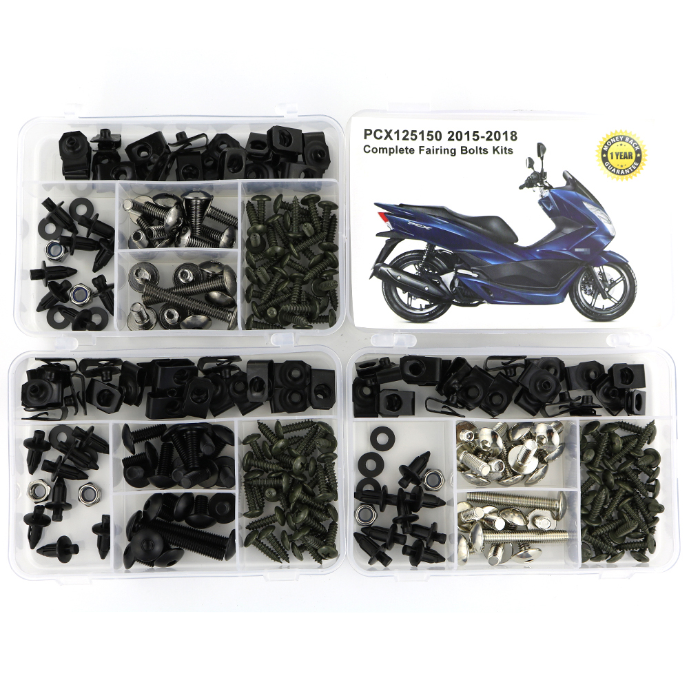 For Honda PCX125 PCX 150 2015 2016 2017 2018 Complete Full Fairing Bolts Kit Screws Clips Speed Nuts Covering Bolts Steel