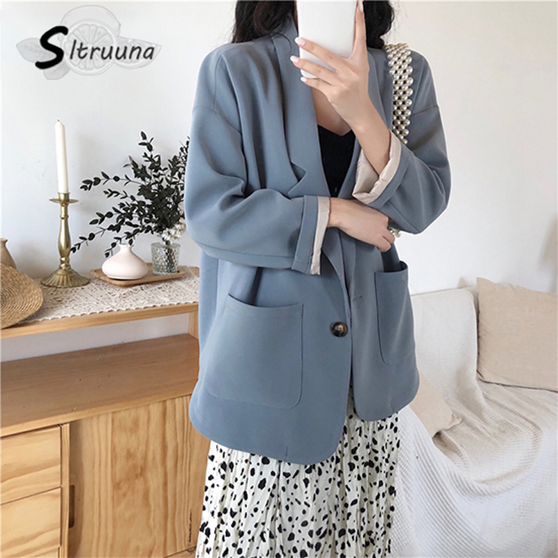 Women Jacket Coat Blazer Suits Business-Outwear Female Elegant-Work Autumn Single-Breasted