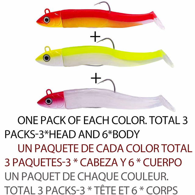 Minnow 25g weighted head /& 100mm soft lure body Bass Fishing