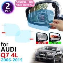 Для Audi Q7 4L 2006~ полное покрытие Зеркало заднего вида анти-туман Плёнки непромокаемые Анти-противотуманная пленка аксессуары 2007 2008 2010 2012