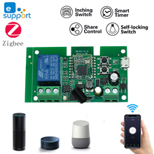 DC 12V 24V Ewelink ZigBee Relay Module Remote Control Wireless Relay Module Smart Home Automation for Door Access Alexa Google