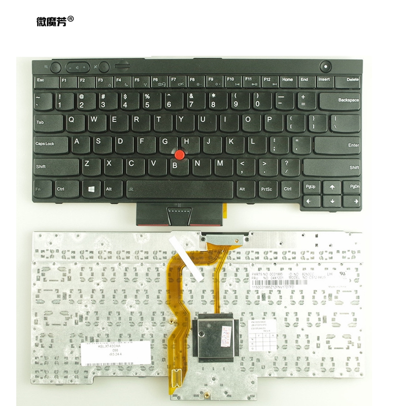 English New Keyboard FOR LENOVO FOR IBM T430 L430 W530 T430I T430S X230I X230 T530I L530 US Laptop Keyboard