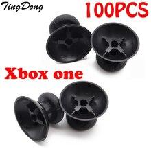 مخصص 100 قطعة أسود استبدال المقود Thumbstick التناظرية العصي ل Xbox One 1 اللاسلكية/ذراع تحكّم سلكيّة غطاء