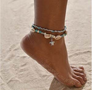 Tassel-Anklets Seashell-Pendant Chain Female Bohemian for Classic Sexy Link-Ocean Wholesale