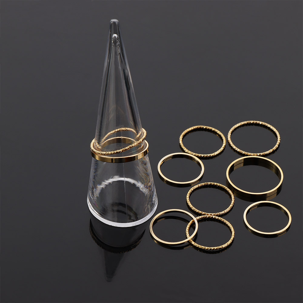 Jewelry Ring Display Holder Stand Cone Shape Acrylic Transparent Durable Cone Ring Rack
