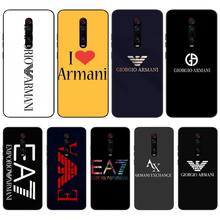 Mantin Italian luxury brand letters Soft black Phone Case For