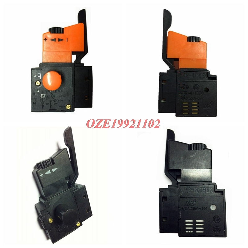 1PC AC 250V/4A <font><b>FA2</b></font>-<font><b>4</b></font>/<font><b>1BEK</b></font> Adjustable Speed Control CW/CCW Switch For Electric Drill Power Tool Trigger Switches image