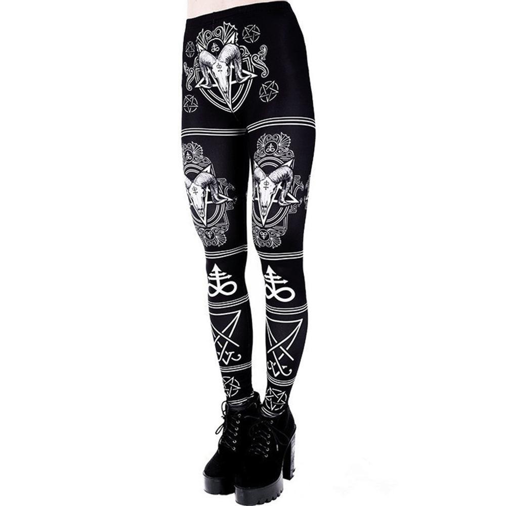 New Fashion Women Sexy Pants Ladies Printing Skinny High Waist Long Pants Leggings Gothic Pants Pantalones Mujer De Verano