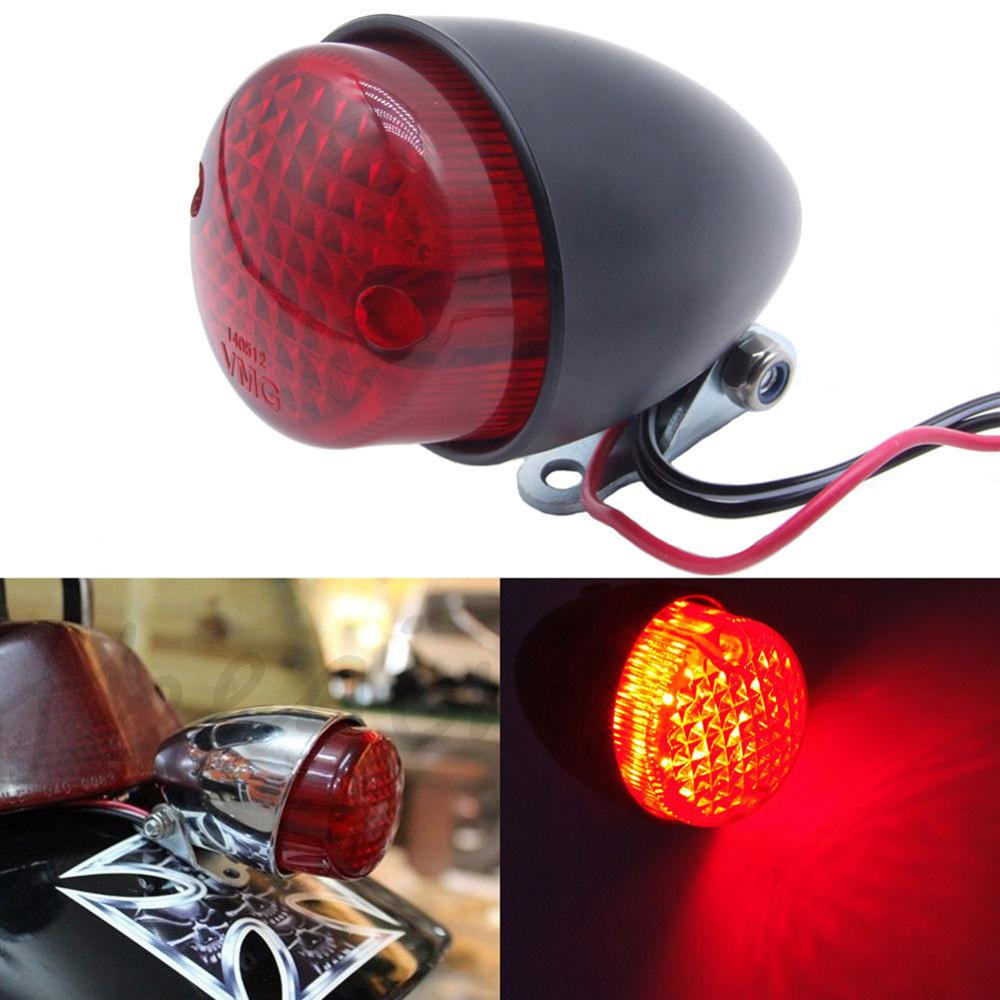 Motorcycle Red LED Tail Light 12V Motorbike Rear Brake Lamp Stop Tail Light Taillight For Chopper  Auto Accessories Wholesale