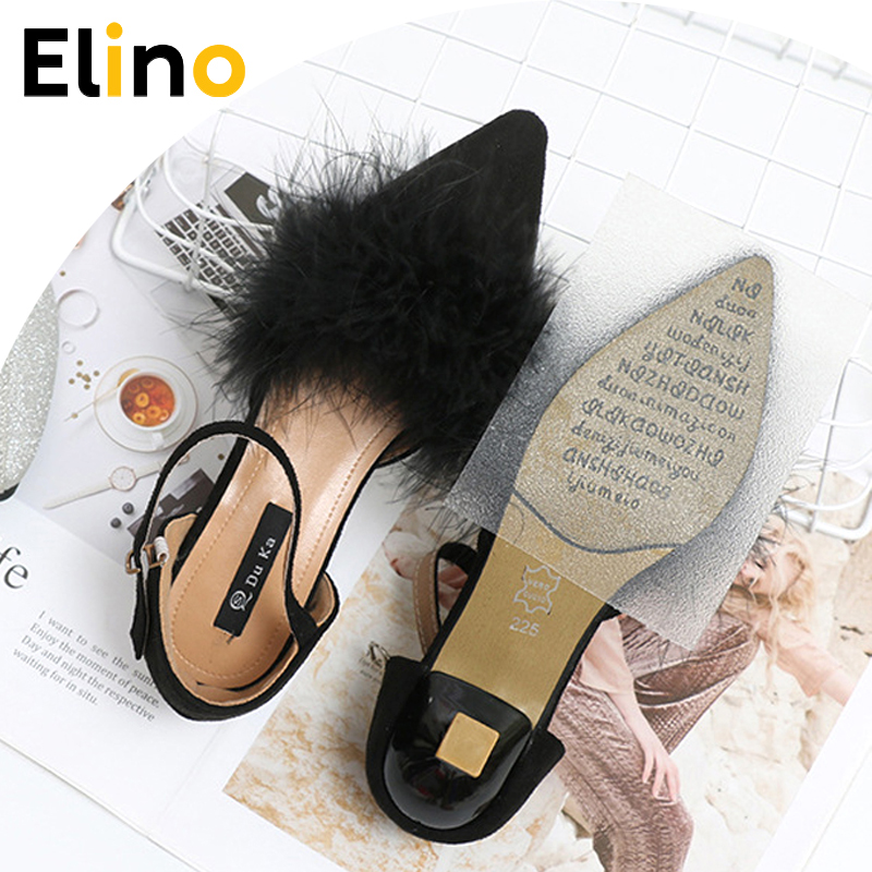Sole Sticker Anti Slip Forefoot Pads Tape Self Adhesive Shoe Ground Grips For Women High Heels Outsoles Protector Soles Inserts