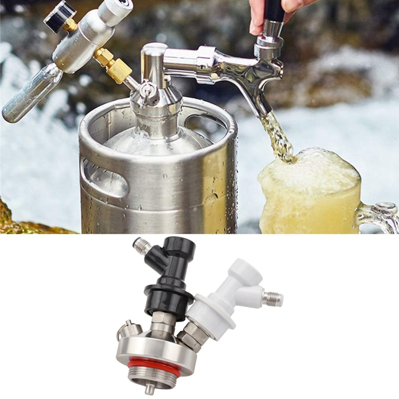 304 Stainless Steel Mini Keg Tap Dispenser Spear With Ball Lock And 50cm Hose For 2L/ 3.6L/5L/10L Beer Keg Growler Home Brewing