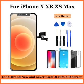 AAA + dla iphone X XR XS Max ekran LCD OLED wymiana iphone 11 Pro Max wyświetlacz z montażem dotykowym 3D prawdziwy dźwięk bez martwych pikseli tanie i dobre opinie HAIMAITONG NONE CN (pochodzenie) Ekran pojemnościowy 3 APPLE AMOLED LCD i ekran dotykowy Digitizer For iPhone X XR XS Max 11Por Max