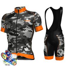 цена на Cycling Jersey Set 2019 Pro Team Aleing Cycling Clothing MTB Cycling Bib Shorts Men Bike Jersey Set Ropa Ciclismo Triathlon Kit