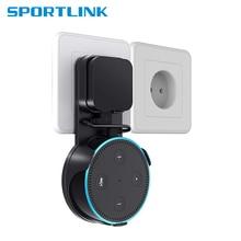 Stojak z uchwytem na ścianę Sperker uniwersalny wspornik głośników uchwyt stojak dźwiękowy z kablem USB do Alexa Echo Dot 2. Generacji