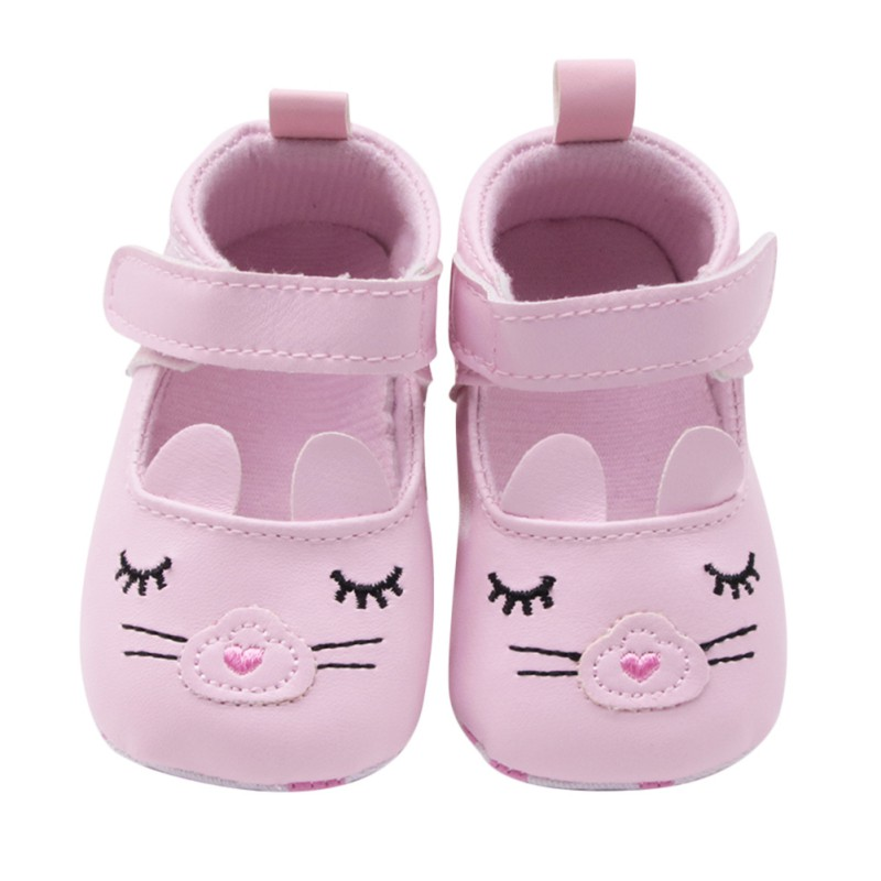Baby Girl Shoes PU Leather Moccasins Princess Shoes Cute Cartoon Soft Soled Non-slip Footwear Crib Shoes