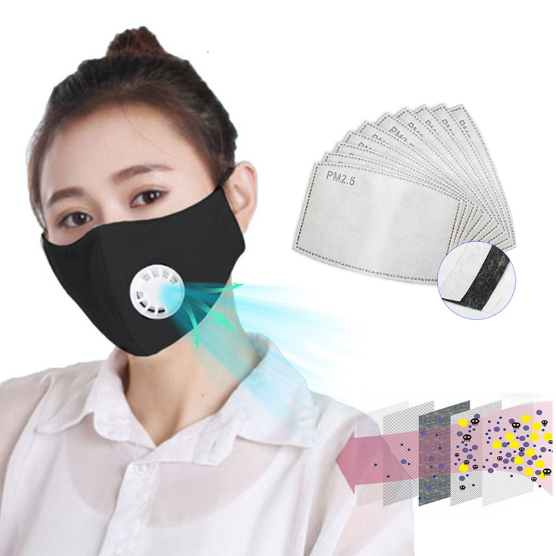 Anti Pollution PM2.5 Face Mouth Mask Dust Respirator Washable Reusable Masks Cotton Unisex Mouth Muffle Women Men