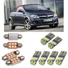 Interior luzes do carro led para opel tigra twintop x04 cabrio lâmpadas para carros luz da placa de licença 6pc