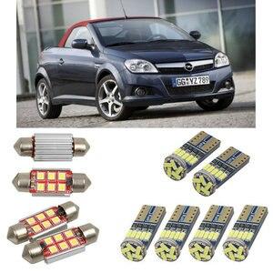 Image 1 - Interior luzes do carro led para opel tigra twintop x04 cabrio lâmpadas para carros luz da placa de licença 6pc