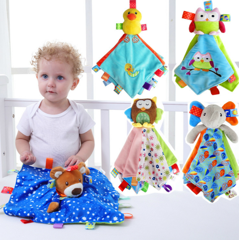 Baby Appease Towel Newborn Cartoon Towel Soft Plush Soothe Appease Doll Towel Sleeping Toys Baby Toallas For 0-12 Months Havlu