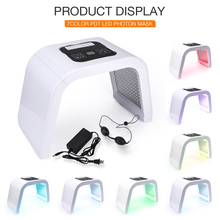 купить 7 Color LED PDT Light Skin Care Beauty Machine LED Facial Mask PDT Therapy For Skin Rejuvenation Acne Remover Anti-wrinkle дешево