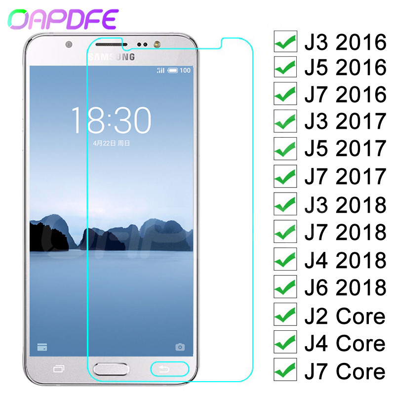 9H Anti-Burst Protective Glass For Samsung Galaxy J3 J5 J7 2016 2017 J4 J6 2018 J2 Core Tempered Screen Protector Glass Film
