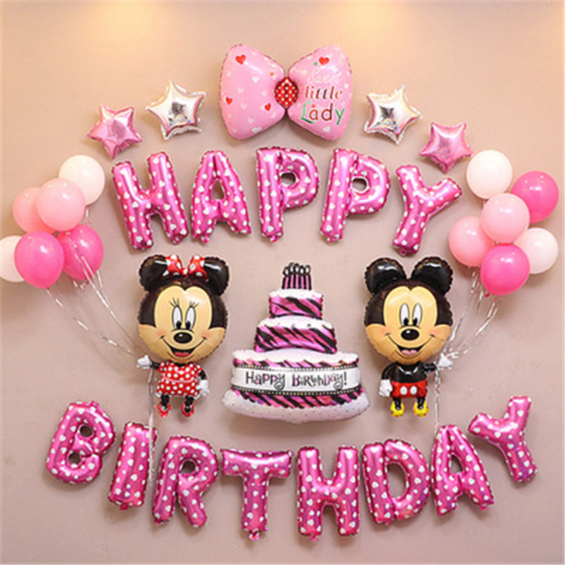 Mickey Minnie Mouse Birthday Party Foil Balloons Decorated Children S Cartoon Shower Party Balloons Party Decoration Backdrop Buy At The Price Of 10 56 In Aliexpress Com Imall Com
