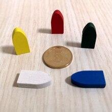 50 peças 20*10*5mm colorido barco de madeira navio bala forma navio de guerra peças de jogo diy marcas para tokens jogos de placa acessórios
