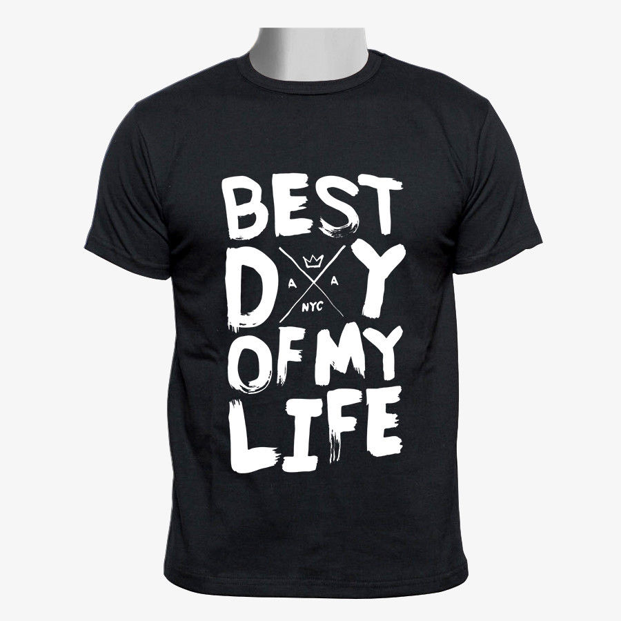 American Authors Best Day of My Life Custom Men Black T-shirt Size Fashion Men T Shirts Round Neck Basic Tops T Shirts image