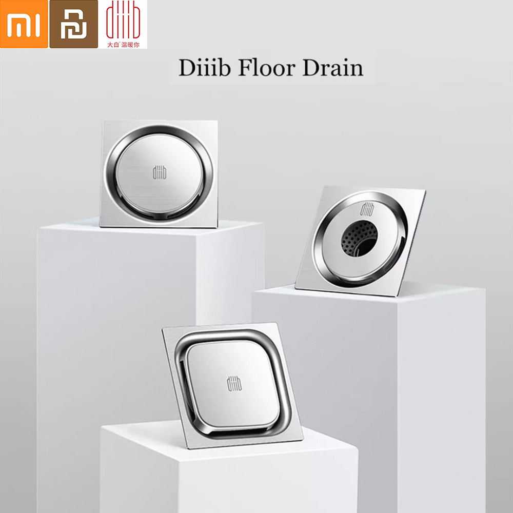 Diiib Dabai Floor Drain Deodorant Insect Proof Stainless Steel Swirling Drainage Kitchen Bathroom Anti-blocking Filter Drain
