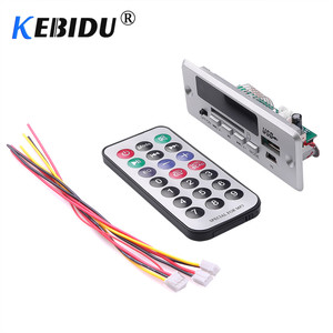 Image 3 - KEBIDU kablosuz MP3 oynatıcı Bluetooth5.0 MP3 çözme devre kartı modülü araba USB TF kart yuvası/USB/FM/uzaktan çözme devre kartı modülü