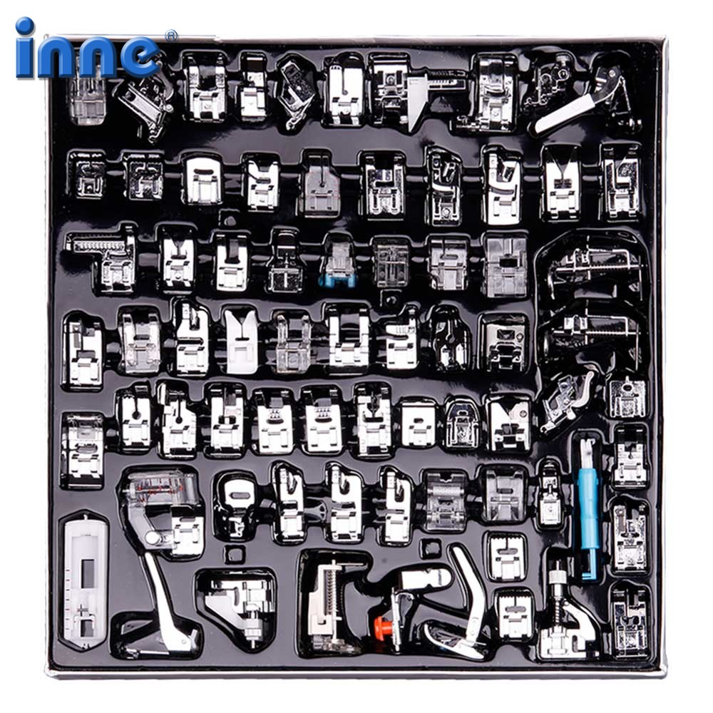 32//52/62/72 Sewing Machine Presser Foot Press Feet For Brother Singer Sew Kit Braiding Blind Stitch Over Lock Zipper Ruler(China)