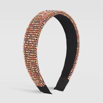 Full Luxury Padded Bling Crystal Rhinestone Wide Hairband 5