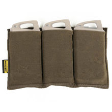 EMERSON – Triple pochette de type M4, magasin rapide Airsoft Molle,équipement de wargame, pour le paintball, MAG EM2388 BK, brun coyote, SG MC,