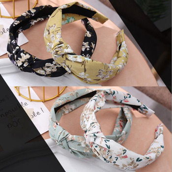 TWDVS 1PC Headband for Women Hair Accessories Solid Color Knotted Hairband Hair Hoop Girls  Hair Bands Bezel Headwear glitter knotted headband for women rhinestone crystal ladies hairband hair hoop solid color satin twisted bezel hair accessories